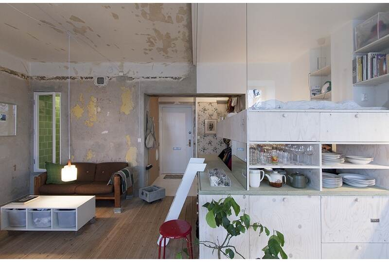 Appartamento 35 mq con mobili ikea architetto al mq nca for Arredo studio ikea